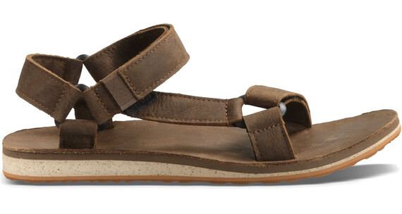 Teva M's Original Universal Premium Leather Shoes Dark Earth